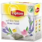 White tea Lipton Rose Violet flavored teabags 20x1.5g