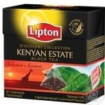 Черный чай Липтон Кения Эстейт байховый ароматизированный в пакетиках 20х2г