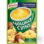 Soup-noodles Knorr Soup Cup with cheese and mushrooms bag 15,5g
