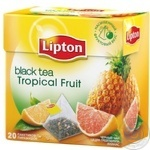 Tea Lipton Tropical fruit pineapple black packed 20pcs 36g cardboard packaging