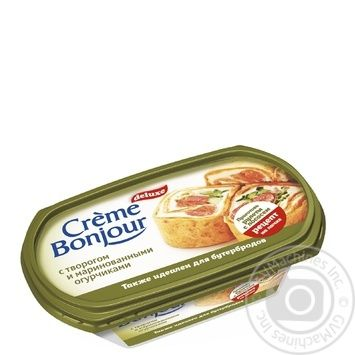 Cream-cheese Crème Bonjour on vegetable oils with cottage cheese and pickled cucumbers 200g