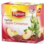 Напиток Липтон Яблоко Корица фруктово-травяной ароматизированный в пакетиках 2х44г Россия