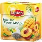 Black pekoe tea Lipton Peach Mango flavored teabags 20х1.8g