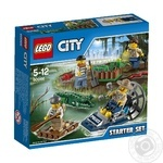 Construction toy Lego City Swamp Police Starter Set  for 5 to 12 years children 78 pieces