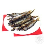 Fish capelin Shelf cold-smoked