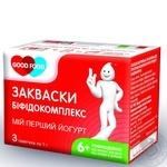 Закваска бактеріальна Гуд Фуд Біфідокомплекс суха 3х1г Україна