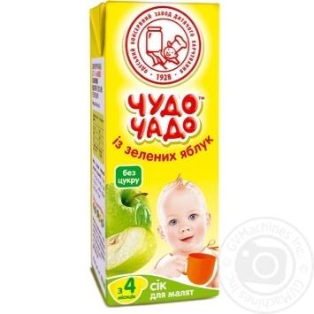 Скидка на Сок Чудо-Чадо из зеленых яблок с 4-ех месяцев 200мл пэт Украина