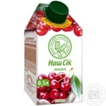 Нектар Наш Сок вишневый 500мл пэт Украина
