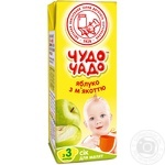 Chudo-Chado apple juice with pulp for babies 3 months and older 200ml