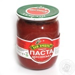 Паста томатна Наш продукт Херсонська 530г скляна банка