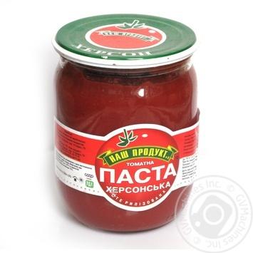 Паста томатная Наш продукт Херсонская 530г стеклянная банка