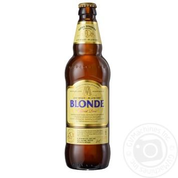 Пиво Первая Приватная Броварня Блонд светлое пшеничное нефильтрованное пастеризованное стеклянная бутылка 5%об. 500мл Украина