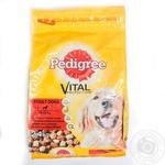 Корм для взрослых собак Pedigree говядина-птица 2,4кг