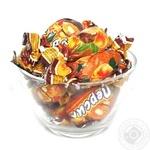 Цукерки глазуровані Персик з ядром волоського горіха Волинські солодощі