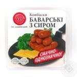 Ковбаски Баварські з сиром Бащинський н/к в/г газ 350г