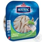 Fish herring Santa bremor with greens pickled 200g Belarus