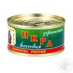 Ікра лососева ТМ Русская икра жестяна банка130г