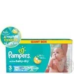 Подгузники детские Pampers Active Baby Midi 4-9 кг Джайнт + 112шт
