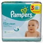 Салфетки детские влажные Pampers Baby Fresh Clean 3х64шт