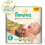 Пiдгузники дитячі Pampers Premium Care Mini 3-6 кг Джамбо 90шт