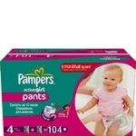 Подгузники-трусики Pampers Active Girl Maxi 9-14 кг для девочек Мега 104шт