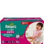 Подгузники-трусики Pampers Active Girl Junior 12-18 кг для девочек 96шт