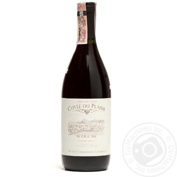 Вино Cuvee Du Plaisir Rouge Sec красное сухое 11% 0,75л