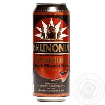Пиво Брунония Собственный импорт темное 5% 500мл железная банка Германия