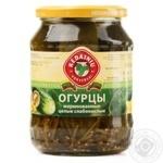 Vegetables cucumber Kedainiu Private import pickled 720ml glass jar Lithuania