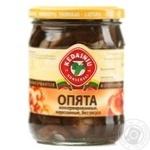 Mushrooms honey fungus Kedainiu Private import canned 480g glass jar Lithuania