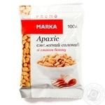 Snack peanuts Marka promo with bacon salt 100g Ukraine