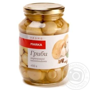 Гриби мариновані шампіньйони Marka Promo 450г