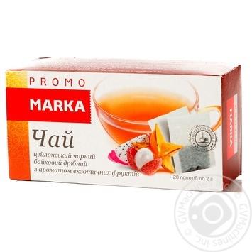 Чай цейлонський чорний байховий дрібний з ароматом екзотичних фруктів уфільтр-пакетах Marka Promo 20*2г