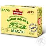 Масло Ферма Вологодское сладкосливочное 82.5% 200г Украина