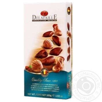 Цукерки шоколаді Delafaille Асорті Seashells 100г