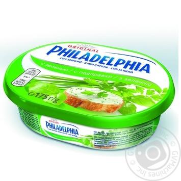 Скидка на Сыр Филадельфия с зеленью 64% 175г Германия