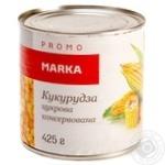 Кукурудза цукрова консервована з цілих зерен Marka Promo банка жестяна420г