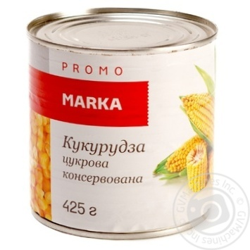 Vegetables corn Marka promo canned 425g can