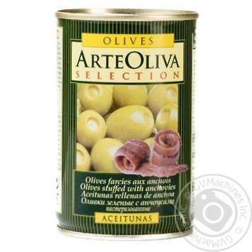 Оливки Arte Oliva фаршировані Анчоус 300г
