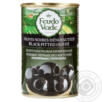 olive Feudo verde Private import black pitted 300g