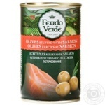 olive Feudo verde Private import salmon canned 300g