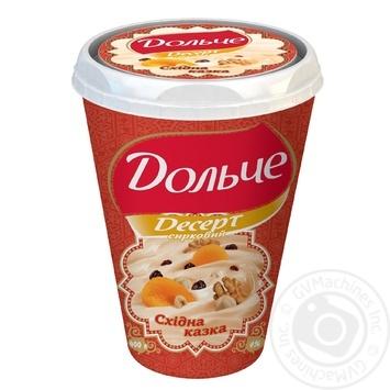 Десерт творожный Дольче Восточная сказка 4% пластиковый стакан 400г Украина - купить, цены на Novus - фото 1