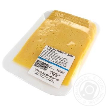 Сыр Добряна Сметанковый твердый нарезка 50%