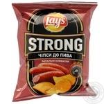 Чипсы Lay's Strong со вкусом зажигательные колбаск 62г