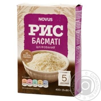 Groats rice Novus 400g - buy, prices for Novus - image 1