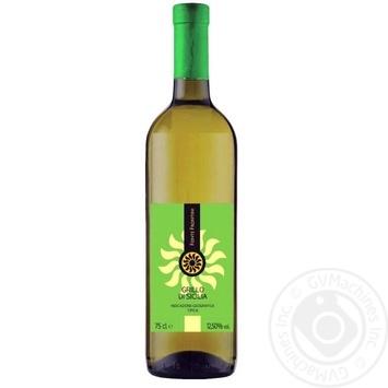 Вино Fronte Frontini Grillo di Sicilia белое сухое 0,75л