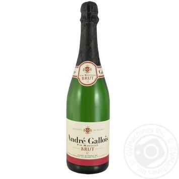 Вино игристое Andre Gallois белое Брют 10,5% 0,75л