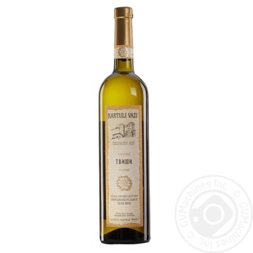 Вино Kartauli Vazi Твиши белое полусладкое 10.5% 0.75л - купить, цены на МегаМаркет - фото 1