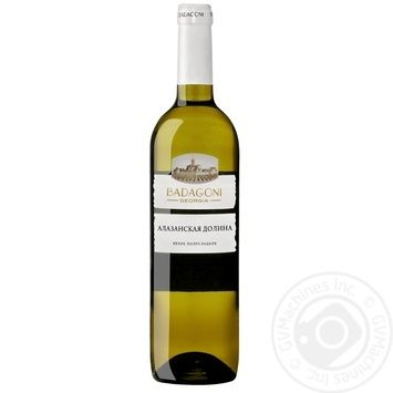 Вино Badagoni Алазанская долина белое полусладкое 10% 0,75л - купить, цены на СитиМаркет - фото 1