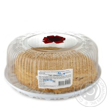 Торт Валенсия Наполеон 1кг пластиковая упаковка Украина